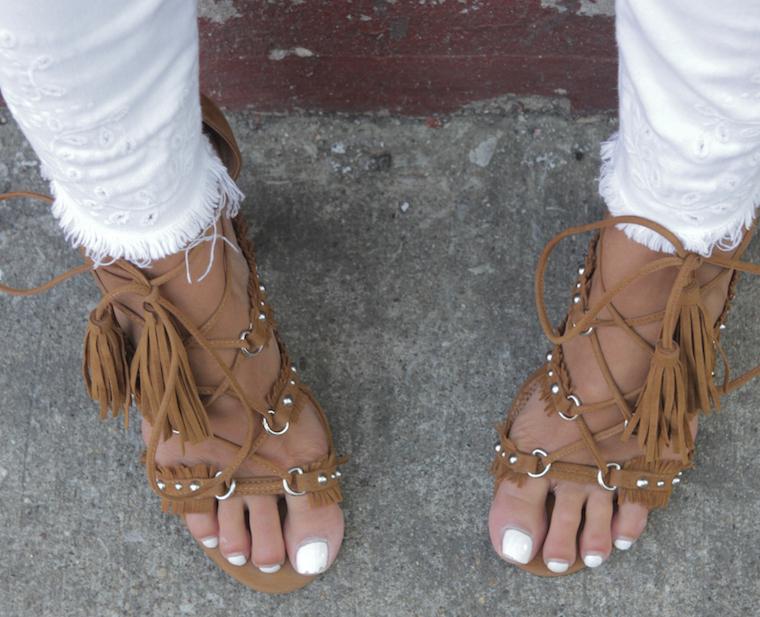 fringe stud heels
